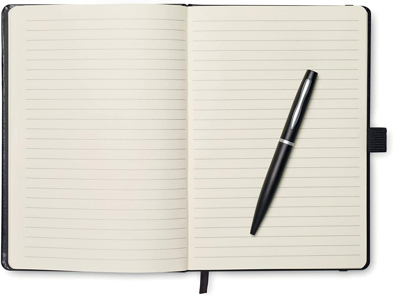 A5 Notebook with Pen - Black: Amazon.co.uk: Office Products