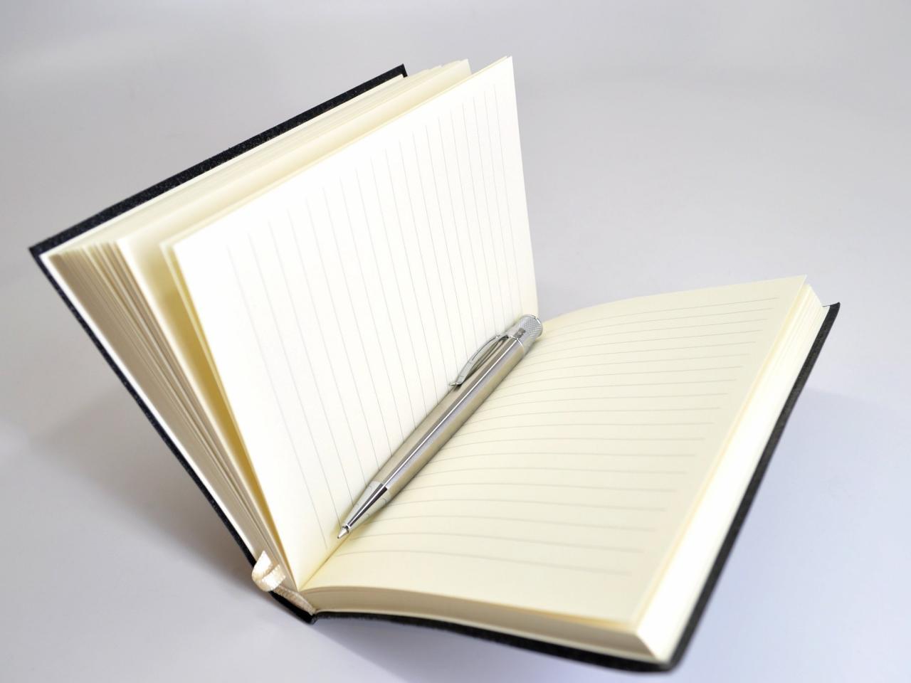 Black Leather Executive Journal – Jenni Bick Bookbinding