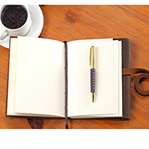 Amazon.com : Leather Journal Travel Diary, Handmade Vintage Writing Bound  Notebook for Men for Women Antique Soft Rustic Leather 5 x 7 - Quality  Unlined Paper Best Gift for Art Sketchbook Notes -