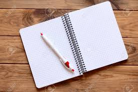 Open Paper Notebook For Writing Notes, Pen On Office Desk. Paper.. Stock  Photo, Picture And Royalty Free Image. Image 85338012.