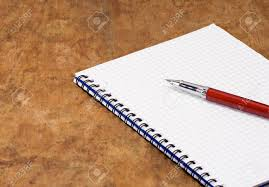 Red Ink Pen And Pad On Wood Texture Stock Photo, Picture And Royalty Free Image. Image 14021584.
