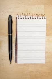 Blank Pad of Paper and Pen on Wood — Stock Photo © Feverpitch #2358436