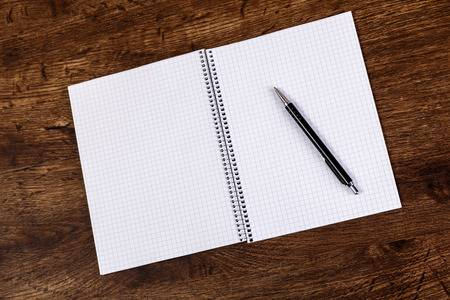 Notepad With Pen On The Wooden Rustic Desk. Mockup Concept With.. Stock Photo, Picture And Royalty Free Image. Image 72131434.